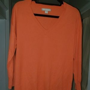 Banana Republic Coral V-Neck Sweater Womens L